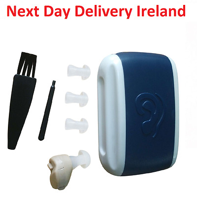 Small In-Ear Voice Sound Amplifier Adjustable Tone Mini Hearing Ear Aid Box