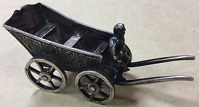 Really Cute Amazing Sterling Silver 925 Wagon Sugar Cube Bowl Holder
