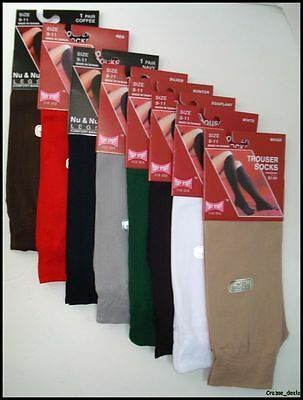 Lot Of 6 Pair Ladies Dress Trouser Socks Randomly Assorted Colors Size 9-11 NEW