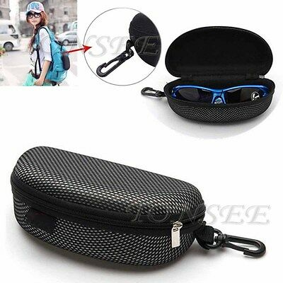 Hot Portable Zipper Eye Glasses Sunglasses Clam Shell Hard Case Protector Box