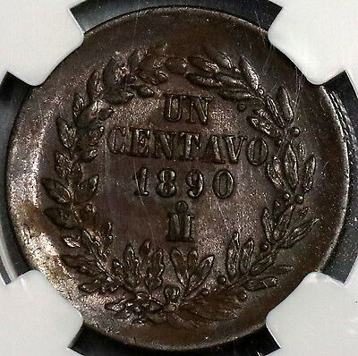 1890 NGC MS 62 MEXICO Large Copper 1 Centavo (16102116C)