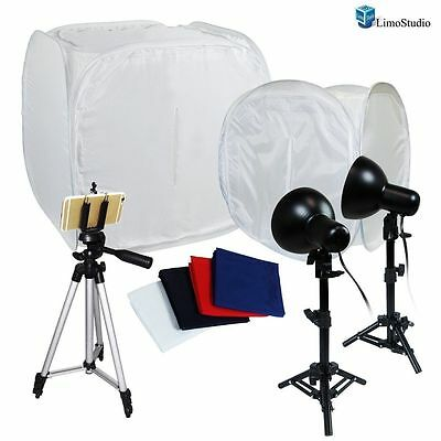 "30"" 12"" LimoStudio Photography Light Tent Backdrop Kit Lighting in a Box Cube"