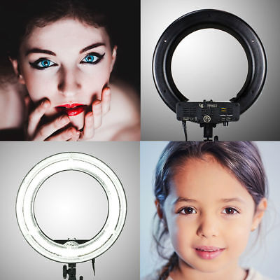 "12"" Fluorescent 5500K Dimmable Ring Light w/ Bag Camera Photo Video Studio"
