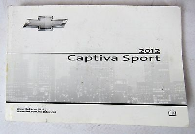 2012 Chevy Chevrolet Captiva Sport Owners Manual Guide Book • $25.50