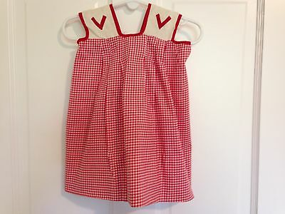 Vintage Baby Girl-Toddler Dress Red White Gingham Handmade 12 Months Size?