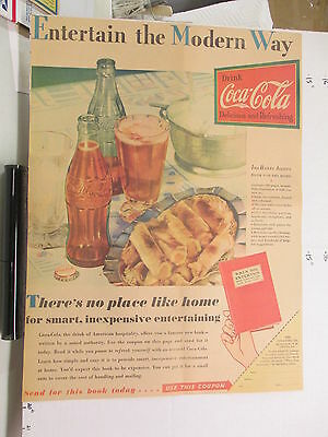 newspaper ad 1930s COCA COLA soda bottle Amer Weekly ENTERTAIN Ida Bailey Allen