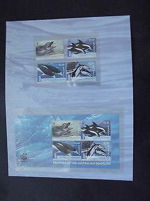 Dolphins Of The Australian Coastline - Interl  Post -  Presentation Pack - Mint