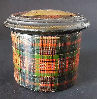 Tartan Ware Mauchline Wooden Treen Box and Cover