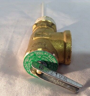 "Watts  100 Xl Pressure Relief Valve 3/4"" 100 Psi 210 Degrees  Free Shipping"