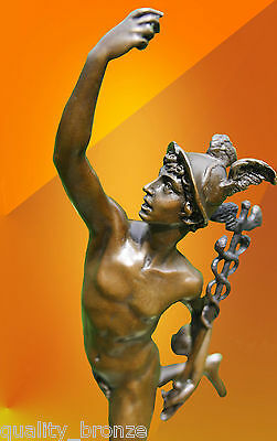 Bronze Statue Mercury Hermes Art Figure Figurine Greek Mythology Hot Cast