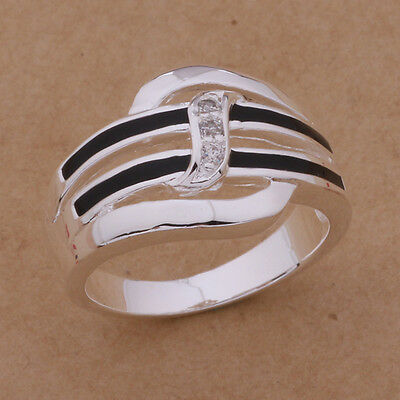 beautiful Fashion charm noble 925 sterling silver plated Classic Cute Women Ring