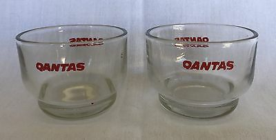 QANTAS ~ 2 Vintage Airlines Glasses