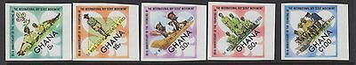 Ghana Sg671/5 1973 World Scouting Conference Imperf Mnh