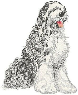 Large Embroidered Zippered Tote - Old English Sheepdog DTL009