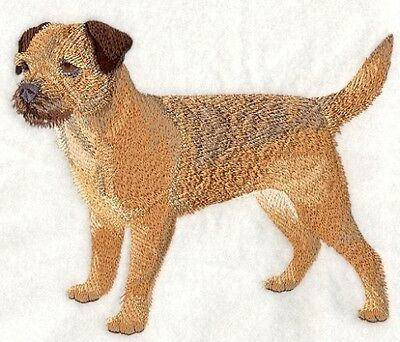 Large Embroidered Zippered Tote - Border Terrier C4888
