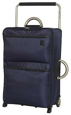 NEW IT Luggage World's Lightest 2 Wheel Medium Suitcase - Evening Blue