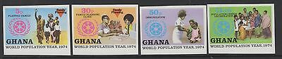 Ghana Sg730/3 1974 World Population Year Imperf Mnh