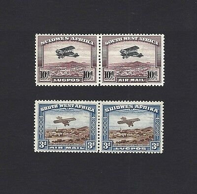 South West Africa 1931 Air 2v pairs SG 86-7 MM