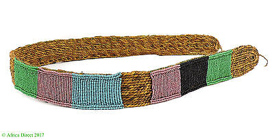 Belt Zulu Beaded Izingcu South African Art 32 Inch