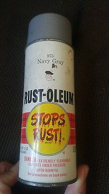 Vintage Rustoleum Spray Paint Can Navy Gray 1973