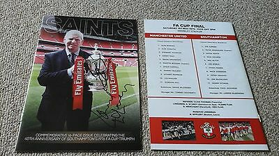 Southampton 1976 FA Cup final programme 40th Anniversay signed by Mcmenemy Peach