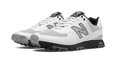 New Balance Classic 574 Breathable Spikeless Golf Shoes White/Grey 11.5 Wide