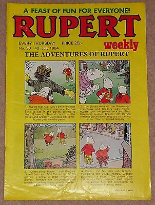 RUPERT BEAR WEEKLY COMIC NO. 90 DATED 4th JULY 1984