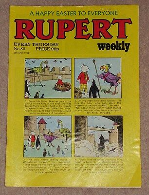 RUPERT BEAR WEEKLY COMIC NO. 80 DATED 25th APRIL 1984