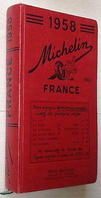Guide Rouge Michelin 1958  Excellent État!