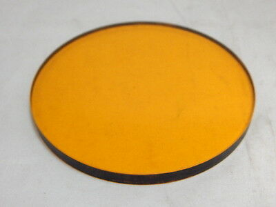 "Vintage 4.25""  Yellow Glass Lens Filter"