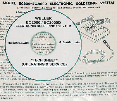 Weller EC2000 / EC2000D Soldering System, Operating & Service Documents