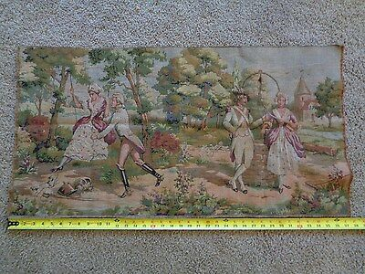 "Antique Handwoven Wall Hanging Tapestry  37"" x 20"""