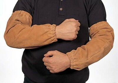 Weldas 44-2318 18 inch Leather Sleeves with Elastic - NEW