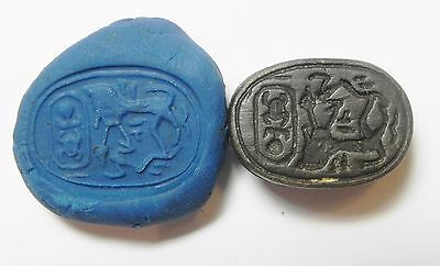 Zurqieh - Af2296- Ancient Egypt. New Kingdom. Stone Scarab. 1400 B.c