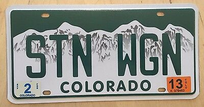 "Colorado Vanity License Plate "" Stn Wgn "" Station Wagon Suburban Woody Ford"