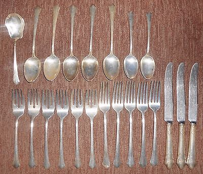 "Gorham ""Lady Caroline"" Silverplate Flatware 1933 Mixed Lot 22 Pieces"