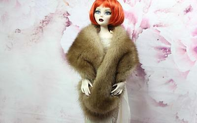 ~Honey Brown Pastel Mink Fur Wrap 4 Sydney Gene Evangeline Ghastly doll~dimitha~