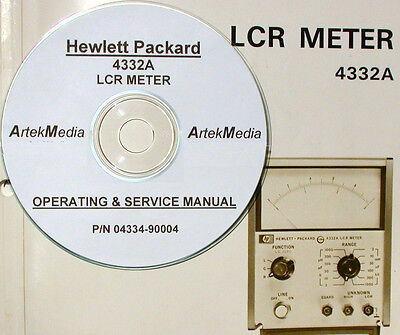 HP 4332A LCR Meter     Operating & Service Manual