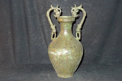chinese TangDy double dragon Bronze vessel