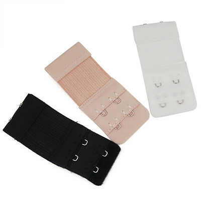 3PCS Women Lingerie Bra Extenders Strap Extension 2 Hooks Replacement Set