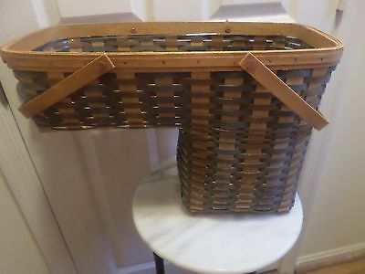 Rare   Longaberger Fieldstone Step It Up Basket Combo  Tu Hwa Weaver