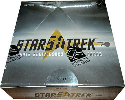 Star Trek 50th Anniversary Factory Sealed Trading Card Box