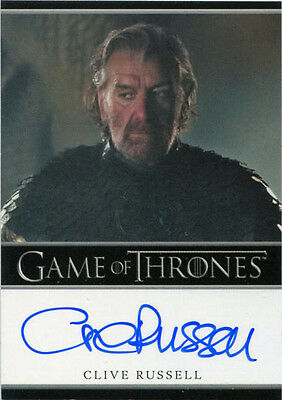 Game of Thrones Season 6 Autograph Card Clive Russell as Ser Brynden Tully
