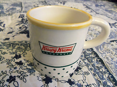 "Krispy Kreme Doughnuts Mug With Donut Inside Mug/ 3"" Wide, 3"" Tall -Wt. 1 Lb. Gc"