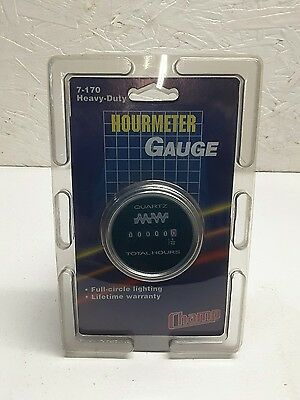 Champ Hour Meter Gauge Quartz 10-80VDC