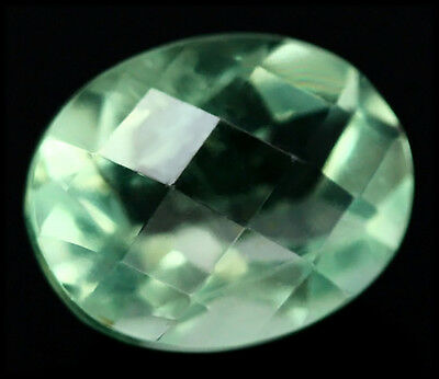 BUY IT NOW!!! NATURAL 3.`16ct BRIGHT GREEN CHINA FLUORITE CHECKERBOARD OVAL