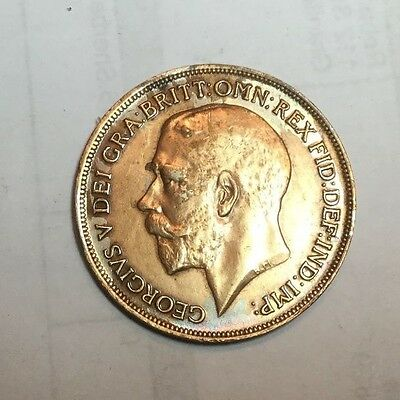 GREAT BRITAIN 1918 1 Penny coin extra fine, cleaned