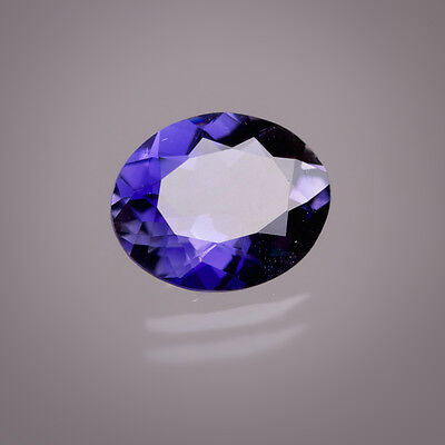Iolite 9x7mm Oval ca. 1,60 Ct in IDAR-OBERSTEIN POLISHED