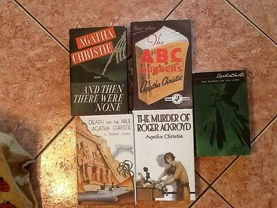 Agatha Christie  Book Bundle/Job Lot/Collection x 5