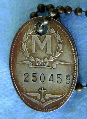 Antique Charge Coin Tag: MAY COMPANY; Department Store; Baltimore MD